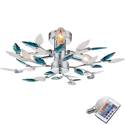 10,5 Watt RGB LED Decken Lampe florale Farbwechsel Leuchte dimmbar Beleuchtung