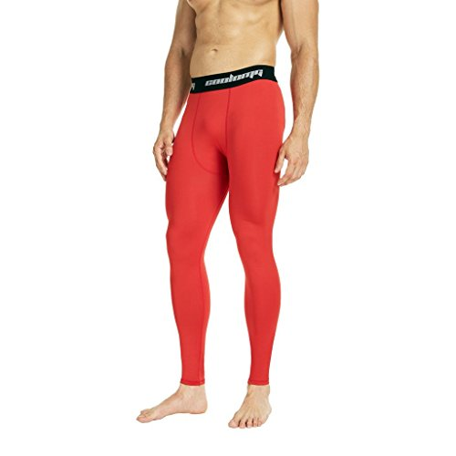 997fd2edc65e5 COOLOMG Compression Pants Running Tights Length Pants Leggings Quick Dry For  Men Youth Boy Red L - Buy Online in Oman. | Misc. Products in Oman - See  Prices ...