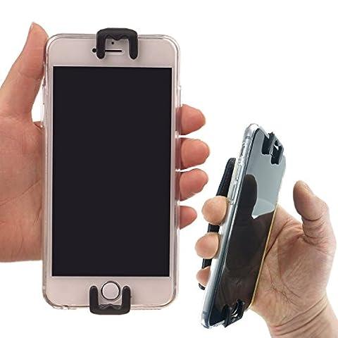 AR (Augmentée Réalité) Jeu Accessoires Main Support – WiLLBee CLIPON 4 ~ 6 Pouce (Noir) Téléphone portable Bague tenir Étui Sangle Smart Grip Outil pour iPhone 7 6S 6 Plus Galaxy Note5 S7 S6 Edge