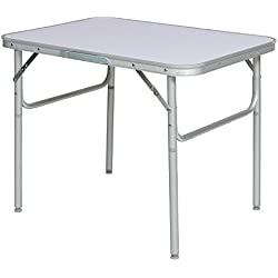 tectake Table Pliante de Camping Jardin BBQ Barbecue Pique-Nique Portable en Aluminium (75 x 55 x 68 cm | no. 401066)