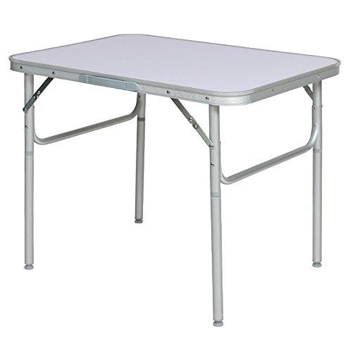 TecTake® Aluminium Klapptisch Campingtisch 75cm Gartentisch Campingmöbel Falttisch Reisetisch klappbar