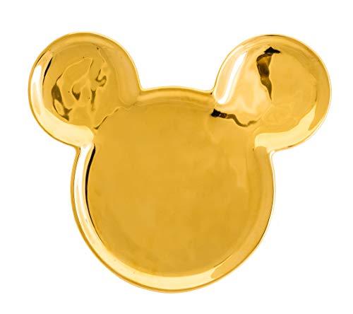 Deluxe GOLDIGER Mickey Ohren Keramik Teller 18X15X2 cm, gold ()