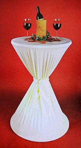 Brandsseller Stehtischhusse Indoor-/Outdoor-Tischdecke Strech-Husse für Bistrotische/Stehtische - Tischdurchmesser: 60 cm - Farbe: Creme