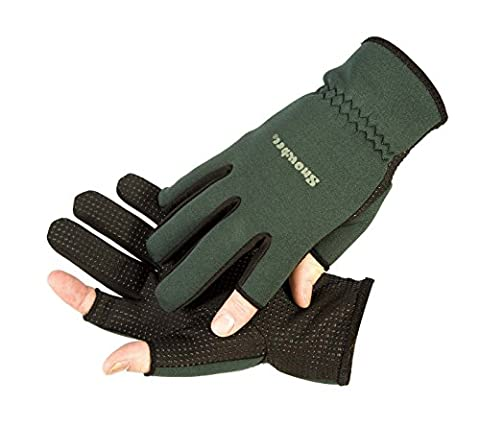 Snowbee Light weight Neoprene Fishing or Shooting Gloves (Large)
