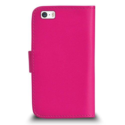 Apple iPhone 5 / 5S Pack 1, 2, 3, 5, 10 Protecteur d'écran & Chiffon SVL3 PAR SHUKAN®, (PACK 10) Portefeuille ROSE