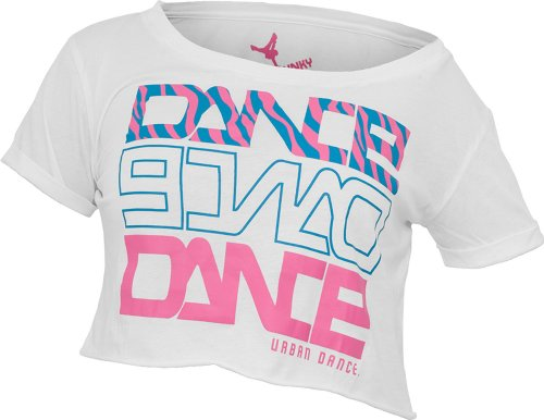 Urban Dance Short Dance Zebra T-Shirt UD026 white/blue/pink