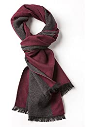 VEDONEIRE Men's Soft Scarf (3117) Wine Charcoal