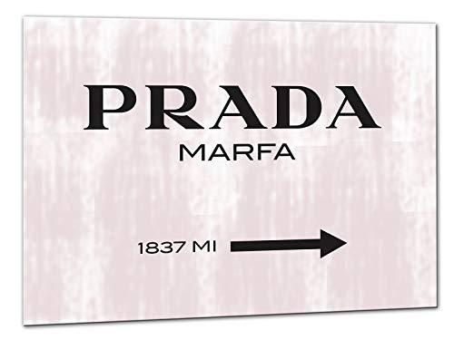 Kuader Prada Marfa Gossip Girl Rosa Marmor Prada Bild Druck Auf Leinwand Für Den Innenausbau Pro15, 50x70 cm