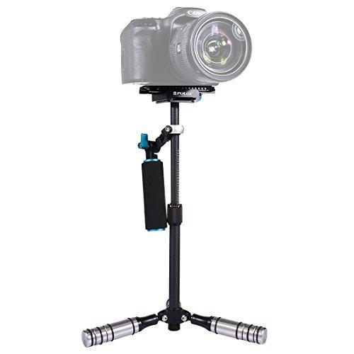 dv 27 lang YTYCJSFH Kamera-Stabilisator, verstellbar, 37 cm, Karbonfaser, mit Schnellwechselplatte, 1/4 Zoll Schraube für Kamera, Video, DV, DSLR, Nikon, Canon, Sony oder Alle bis 3 kg