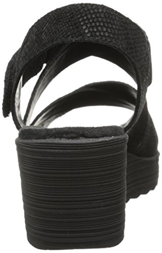 Aerosoles Bogota Daim Sandales Compensés Black Snake