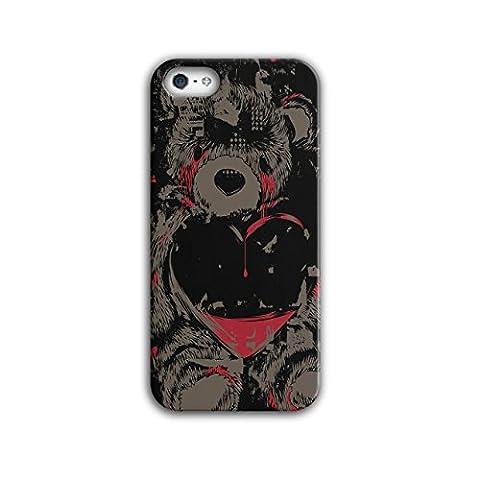 Teddy Ours Amour Blesser Du sang Larme 3D iPhone 5 / 5SÉtui Pour   Wellcoda