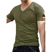 Allegra K Camiseta Para Hombre Con Estilo Delgada Camiseta De Manga Corta Delgada