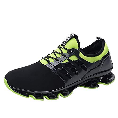 Sneaker Herren Schwarz,Atmungsaktiv Laufschuhe,Dasongff Schnürer Running Shoes,Turnschuhe Männer Shock Absorbing Running Fitness Sportschuhe