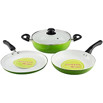 Ecocera Ceramic Cookware (Set of 3) - Induction Friendly