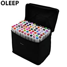 oleep 60 color Touch cinco arte dibujo marcadores de doble punta amplia Fine punta doble punto gráfico