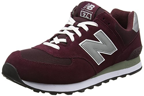 New Balance 574, Baskets Basses Homme, Rouge (Burgundy 512), 42.5 EU