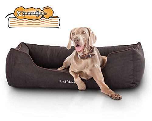 Knuffelwuff Orthopädisches Hundebett aus Velour Amelie XXL 120 x 85cm Schwarz