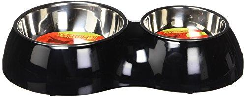 Artikelbild: Dogit Metallnäpfe im Doppelnapf, schwarz 400 ml