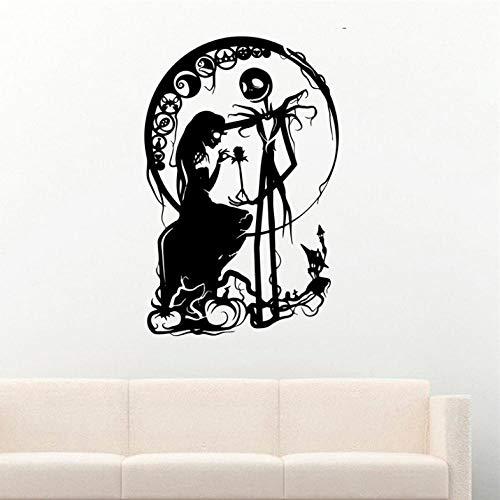 Aizaixinli Vinyl Wand Applique Mädchen Silhouette Halloween Dekoration Aufkleber Vinyl Wand Kindergarten Kinderzimmer Wandaufkleber 58 * 92 Cm