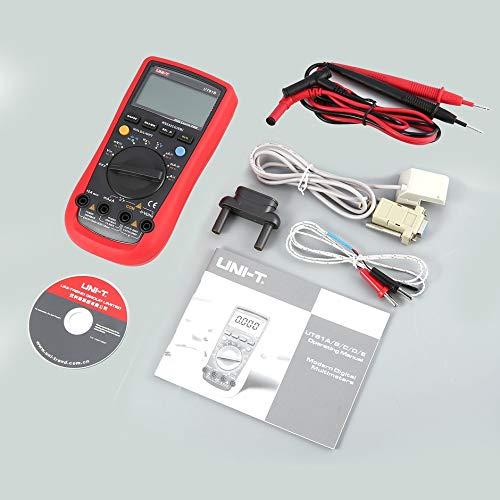 Preisvergleich Produktbild WEIWEITOE-DE Uni-T UT61B 4000 Counts Digital Multimeter with Backlight Auto Range DC / AC Voltage Current Ohm Temperature Capacitance RS232