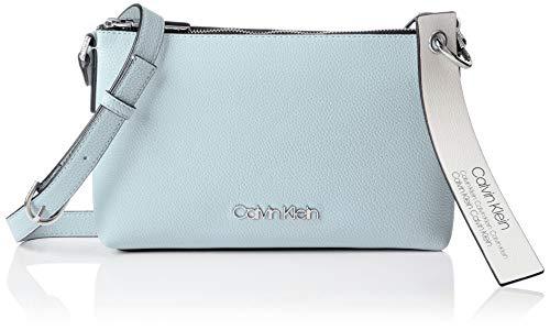 Calvin Klein Damen Neat Ew Crossbody Umhängetasche, Blau (Pale Blue), 5x15.5x25.5 cm (Crossbody Umhängetasche)