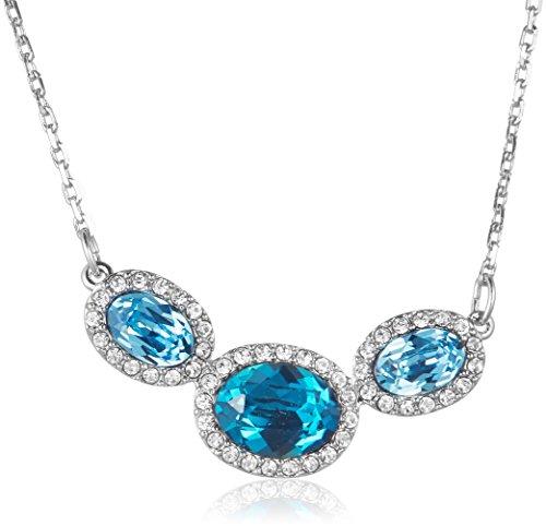 Trailer Swarovski Damen-catena con Christie ovale rodinato cristallo blu 40 cm - 5156789