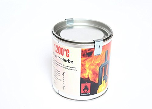 Preisvergleich Produktbild Ofenlack 1200°C Thermofarbe Ofenfarbe Thermolack Anthrazit-Grau 250ml (ad-ideen)