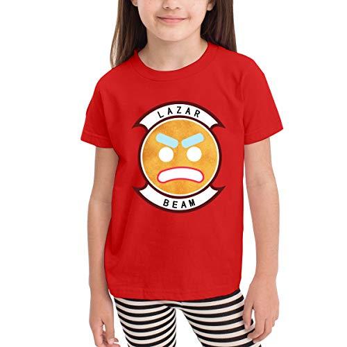 Kinder Baby Mädchen Jungen Sommer T-Shirt Lazarbeam T Shirt Shirts Für Kleinkind Mädchen Jungen Kurzhülse Kleidung Rot 2 T Cotton Duck Vest