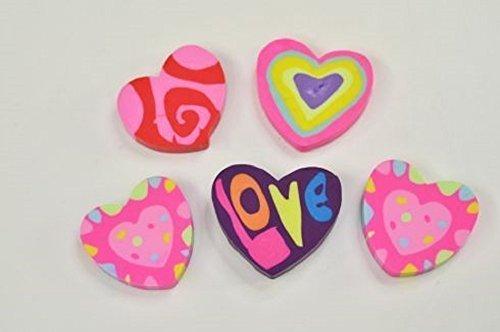 12 Radiergummi Herzform Schule Büro Mitgebsel Kindergeburtstag