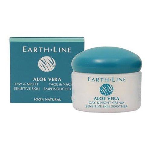 Earth Line Crème de jour et nuit Aloe Vera peau sensible Vitamine E 50ml