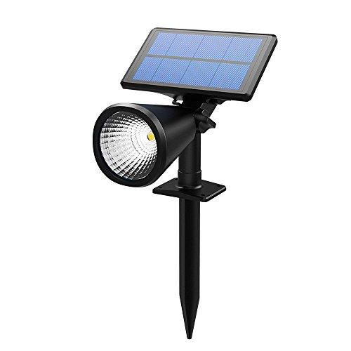 TOPELEK Solar Spotlight, 4 LED IP65 Waterproof Solar Powered Spotlight  Outdoor 2 In