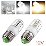 E27 LED Bulbs 12V 3W 27 SMD 5050 White/Warm White Corn Light - Color#White