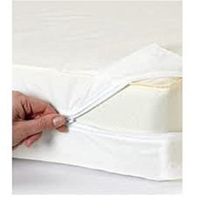 Zipped Stretch Mattress Cover - Double White