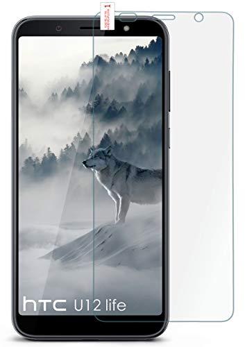moex 9H Panzerfolie für HTC U12 Life | Panzerglas Bildschirm Glasfolie [Tempered Glass] Screen Protector Glas Bildschirmschutz-Folie für HTC U12 Life Schutzfolie