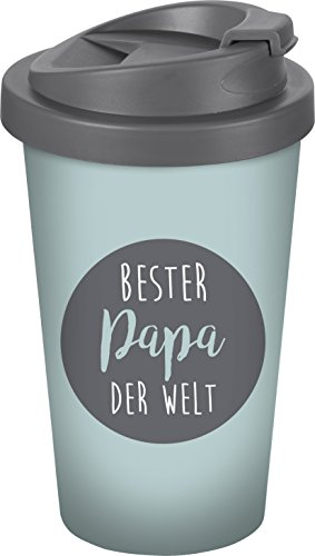 infinite by GEDA LABELS (INFKH) Bester Papa der Welt Coffee to go Becher, Kunststoff, Grau, 9 x 9 x 17 cm