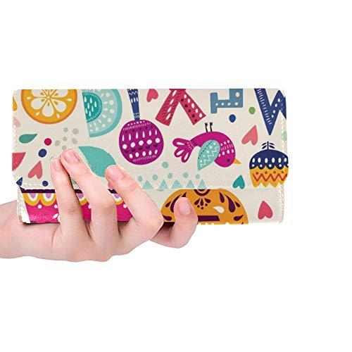 Einzigartige helle Bunte stilvolle über Frauen Trifold Wallet Lange Geldbörse Kreditkarteninhaber Fall Handtasche -