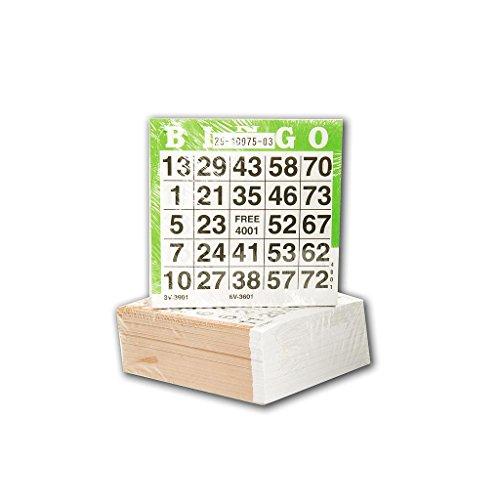 250 Stück Bingo- / Lotto-Zettel für Bingo-Spiel mit 75 Bällen (Bingo-karten Für Kinder)