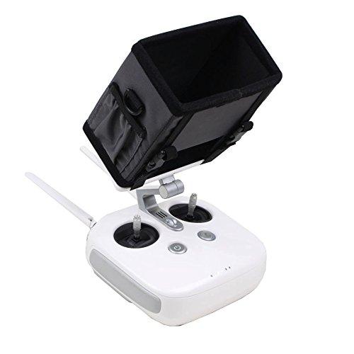 Preisvergleich Produktbild Owoda Vollumkreisung 5,5 Zoll Smartphone Faltbar Fernbedienung Kontroll-Monitor-Haube FPV Sonnenschutz Sonnenschutzdeckel zum DJI Phantom 4PRO + (Schwarz)