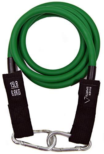 Ryher Gomas elásticas y Accesorios para Fitness y Ejercicio (Individual #2 Verde - 7 KG)