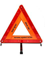 Safies Road Safety Reflective Warning Triangle with Double Stand(Pack of 1)
