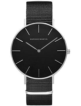 Franterd Herren-Armbanduhr Quarzuhr Armbanduhr Elegant Uhr Modisch Zeitloses Design Klassisch Leder Schwarz