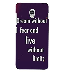 ColourCraft Quote Design Back Case Cover for LENOVO VIBE P1