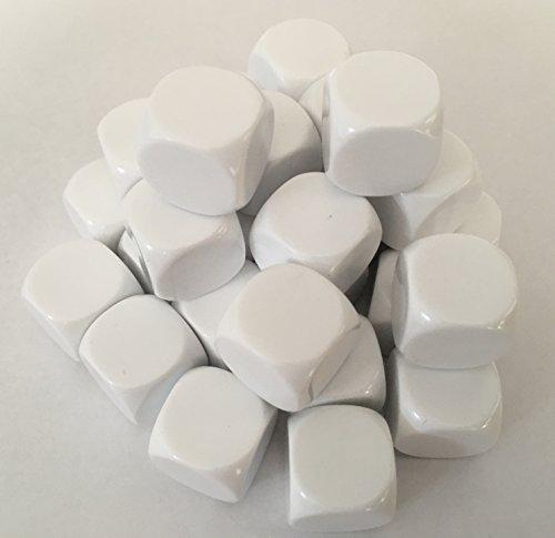 Blanko Würfel 30 mehrfach beschreibbar Weiß