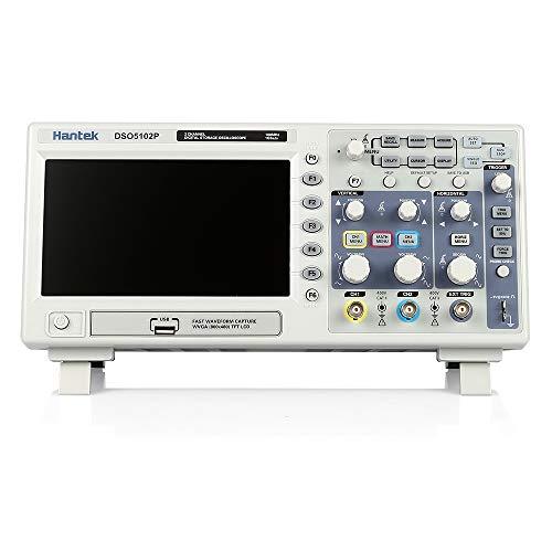 KKmoon Certificato DSO5102P Oscilloscopio Digitale 2 Canali 100MHz 1Gs 7' TFT 8 bit 4nS/div-80S/div