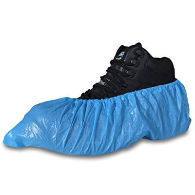 100 Pack Of Blue Disposable Overshoes For Shoes And Boots To Protect Carpets & Floors - Comes With TCH Anti-Bacterial Pen! - low-cost UK light shop.