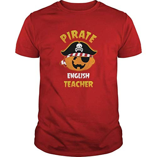 Pirate English Teacher Halloween T Shirt X-Large (Ernährung Tag Kostüm)