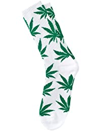 Calcetines cannabis blanco y verde - Kultur Kush (HUF Style - talla única 35-44)