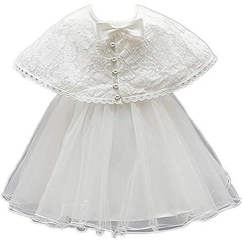 H/B bebé niña 2piezas marfil bautizo bautismo tutú flor para vestidos de niña con capa 1520