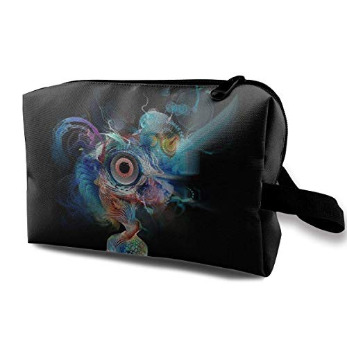 Portable Travel Cosmetic Bag Abstract Smart Brain Art Lady Makeup Travel Toiletry Storage Bag