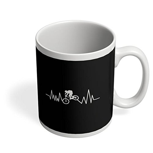 PosterGuy Coffee Mugs - Bike Heart Beat | For Cyclists | Designed by: Philip Monero  available at amazon for Rs.280